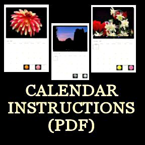 Customized Calendar Ordering Instructions